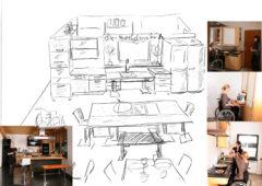 NL 143: Gsunds Neues, Kund(e)in und Köchin für barrierefreie Messeküche gesucht, die Story unserer Eichenküche und schnelles Zeichnen