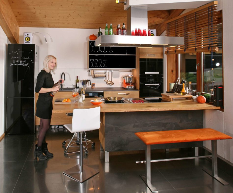 Massivholzküche die neue massivholzküche aus fränkischer eiche kann im neuen jahr