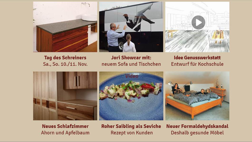 NL 151: Tag des Schreiners, neues Sofa Glove, fränkischer Saibling wird zu peruanischem Seviche, Ahorn-Apfel-Schlafzimmer, Formaldehydskandal