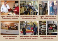 Newsletter 152: Tag des Schreiners + Jubiläumsbuch + Jugendsozialarbeit + NN über Massivholzmöbel