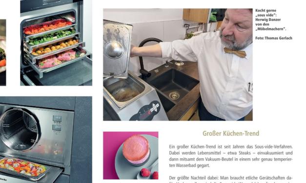 """Unterkrumbacher Küchenkompetenz vom Dialoggarer bis zum Schockfroster im NZ-Magazin """"Schön.Leben"""""""