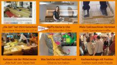 """Newsletter 154: Schneidbrett-Gutschein in """"Die Zeit"""" – Steffis Küche in Ulm – Kurioses von der Möbelmesse – Fischhaut und Kochworkshop"""
