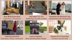 Newsletter 156: Neue Wohnzimmer, Sofaaktion, Kinokomödie, Bauhaus, Paris, Bob Dylan und Kaninchen