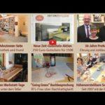 Newsletter 163: Neue Wohnzimmer, 30 Jahre ProNatura Aktion, Tische für Werkstatt-Tage, Die-Zeit-Gutschein, Möbelmesse, Kochworkshops