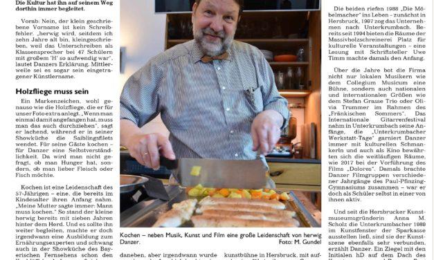 Mein Leben auf einer halben Zeitungsseite: über die Möbelmacher im Kulturverbund Nürnberger Land