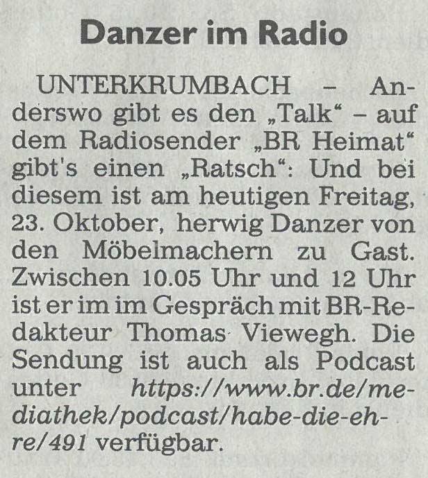 Eine Ganze Stunde Mobelmacher Im Bayerischen Rundfunk Habe Die Ehre Als Podcast Hier Zum Nachhoren Das Nachhaltigkeitsblog Der Mobelmacher