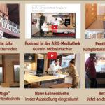 Newsletter 171: Unser Porsche, Penthouse-Video, BR-Podcast-Möbelmacher, neue Eschenküche in Ausstellung – Bettsysteme – Lichtsytem Slackline