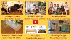 Newsletter 174: Kolumbien-Franken-Küchen-Kombo, Schreibtische für Alle, Vor-den-Altar-geschleppt, ProNatura-Preis, Bretterbericht