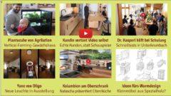 Newsletter 175: Kundin vertont Küchenvideo selbst, Kräutergewächshaus Plantcube, Dr. Kasperl hilft bei Schnelltests, Idee fürs Wurmdesign, neue Oligoleuchte Yano