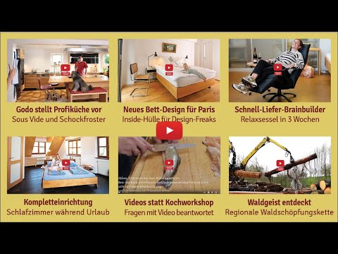 Newsletter 176: Profiküche, Edelbett, Schnellsessel, Urlaubsschlafzimmer, Einfachkochen, Waldgeist